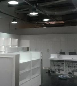 Retail electrical installation